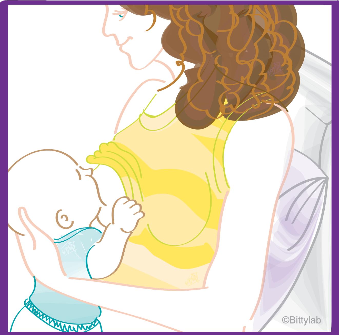 End GERD when breastfeeding